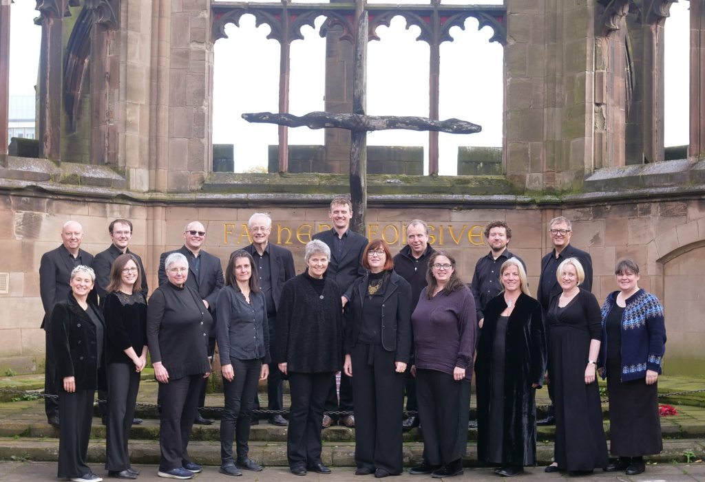 The Singers in the ruins of the old Coventry Cathedral